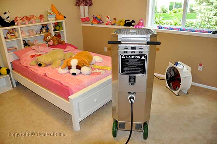 bed bug heat treatment equipment and prepare